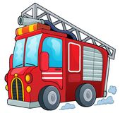 Fire truck theme image 1. Eps10 vector illustration Royalty Free Stock Photo