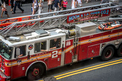 Fire truck in Times Square, New York Stock Image