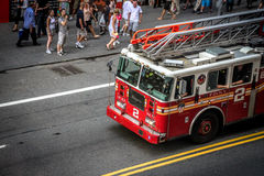 Fire truck in Times Square, New York Stock Photography