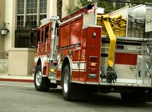 Fire Truck Turns Royalty Free Stock Images