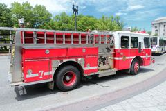 Fire truck in the USA Royalty Free Stock Image