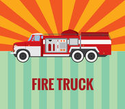 Fire truck - vector drawing. Stock Photo