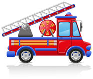 Fire truck vector illustration Royalty Free Stock Photo