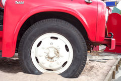 Fire truck wheels Royalty Free Stock Images
