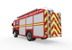 Fire Truck  on White Background. 3d render Royalty Free Stock Images