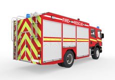 Fire Truck  on White Background. 3d render Stock Images