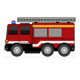 Fire Truck. On White Background. Vector Illustration Stock Images