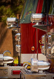 Fire Trucks. An abstract view of the front section of two fire trucks Stock Image