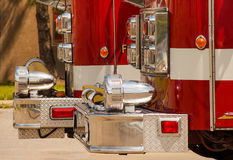 Fire Trucks Close-up Stock Images