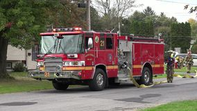 Fire Trucks, Fire Department, Emergency Response Vehicles stock video footage