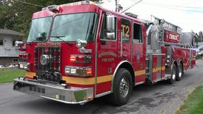 Fire Trucks, Fire Department, Emergency Response Vehicles stock video