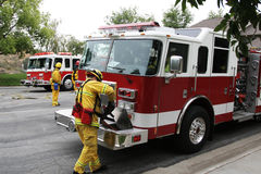 Free Fire Trucks & Fire Fighters Stock Photography - 5285102