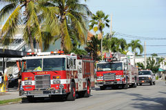 Fire trucks in Key West, Florida Royalty Free Stock Images