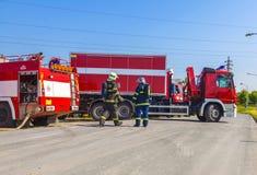Fire trucks Stock Photo
