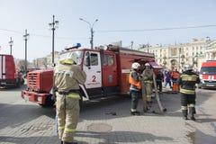 Fire trucks of Saint-Petersburg Royalty Free Stock Images