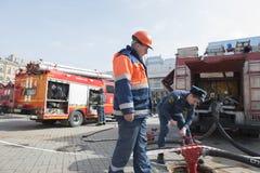 Fire trucks of Saint-Petersburg Stock Images