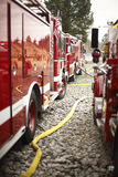 Fire trucks on scene Royalty Free Stock Photography