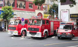 Fire trucks. Fire truck of longhai city, china Stock Photography
