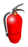 Fire tube. Fire extinguisher on white background Stock Photography