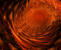Fire Tunnel. Abstract fractal background design, horizontal Royalty Free Stock Photography