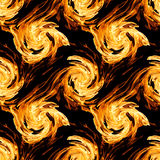 Fire twirls abstract. Seamless  pattern Stock Photography