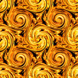 Fire twirls abstract. Seamless  pattern Stock Image