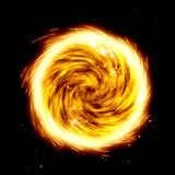 Fire twist explosion. Realistic Twisted fire explosion orb Stock Photos
