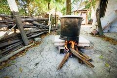Fire Under Pot Royalty Free Stock Photo