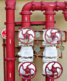 Fire Valve control system for buildings. Fire Valve Pipeline Control System For Emergency Royalty Free Stock Photography