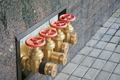 Fire valves Stock Images
