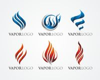 FIRE AND VAPOR LOGO DESIGN. Vapor / Fire logo design set using gradien colour Royalty Free Stock Images