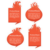 Fire. Vector collection of fire forms and frames for your text Royalty Free Stock Photography