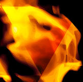 Fire in vector format. For use as a design element or a creative background. Fire flame on black background Royalty Free Stock Images