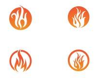 Fire vector icon logo template. Fire vector icon logo Stock Photos