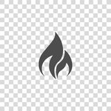 Fire vector icon. On white background Royalty Free Stock Image