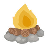 Fire vector. Illustration of fire cartoon vector Royalty Free Stock Images