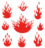 Fire. Vector illustration (EPS 10 Royalty Free Stock Image