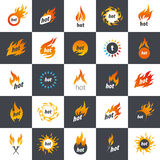 Fire vector logo Royalty Free Stock Images