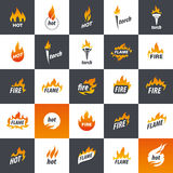 Fire vector logo Royalty Free Stock Photography