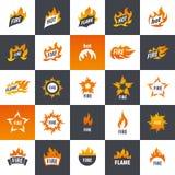 Fire vector logo Royalty Free Stock Photos