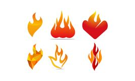 Fire Vector Template Set. Vector Stock Image