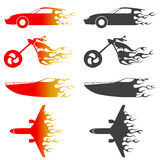 Fire vehicles vector. Fire vehicles with different colors vector Stock Photo