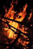 Fire. A very big warm orange fire Royalty Free Stock Photos