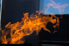Fire. The fire is very hot. Don 't play with it. Fire. The fire is very hot royalty free stock images