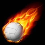 Fire volleyball. Illustration on white background Royalty Free Stock Images