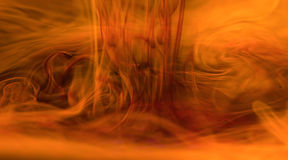 Fire vortex. Abstract image of water and ink to give fire effect Royalty Free Stock Photos
