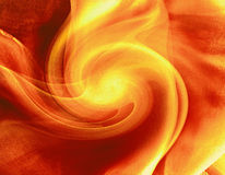 Fire vortex. Colored background, illustration, abstract flame, red and yellow colors Stock Photo