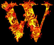 Fire W sign Royalty Free Stock Images