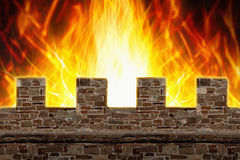 Fire, wall Stock Images