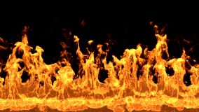 Fire Wall video stock footage